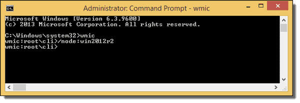 Remote connection with wmic