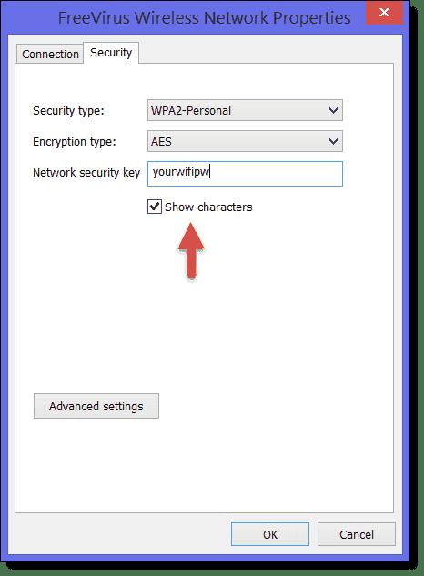retrieve wifi password windows 8