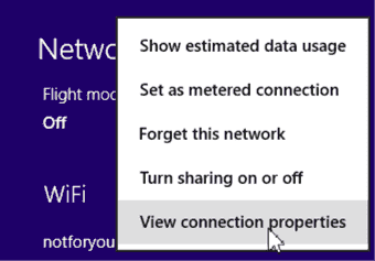 how to find wifi password on windows 8