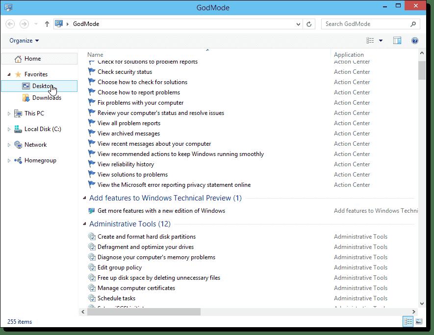 Windows 10 GodMode – 4sysops
