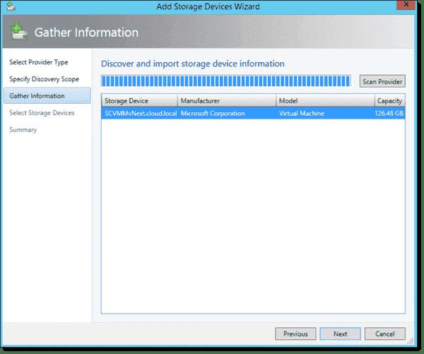 Adding local storage in VMM