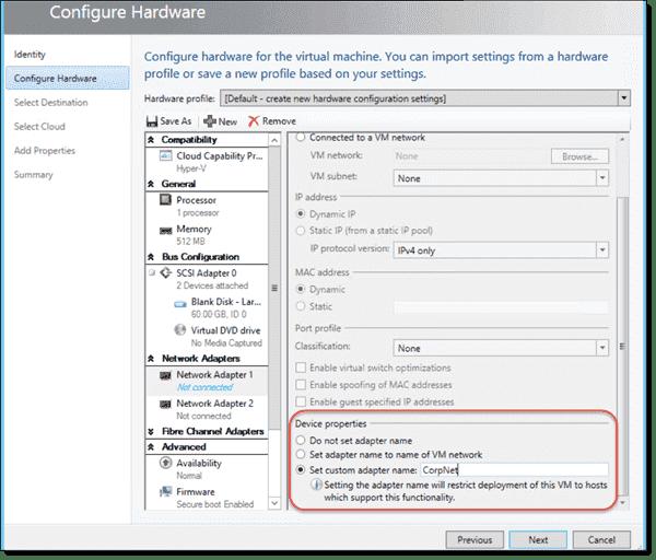CDN - Set custom adatper name