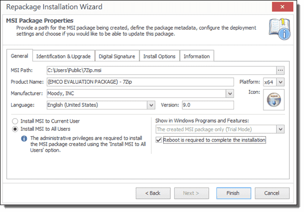 how to create msi file