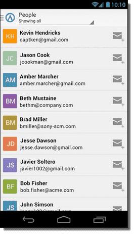Contacts - phone version