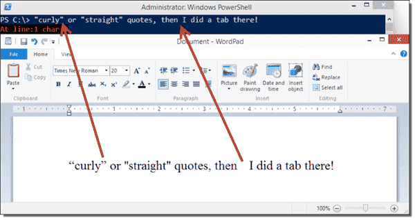Converting smart quotes and removing tabs