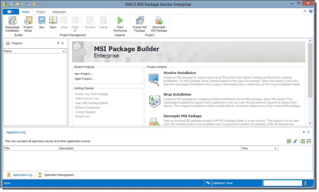 Easily create an MSI package with EMCO MSI Package Builder