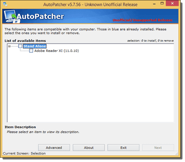 Installing updates with AutoPatcher Engine