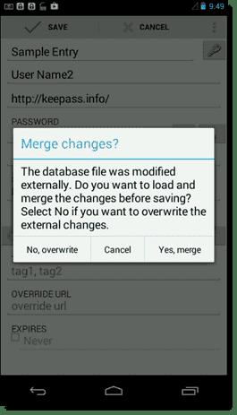 Merge Keepass database