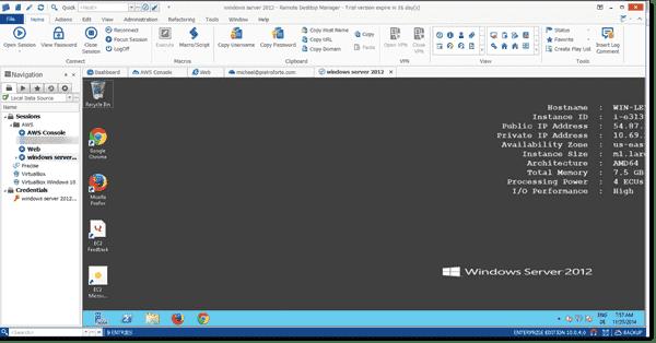 Remote Desktop session