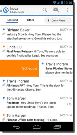 Scheduled email - phone version