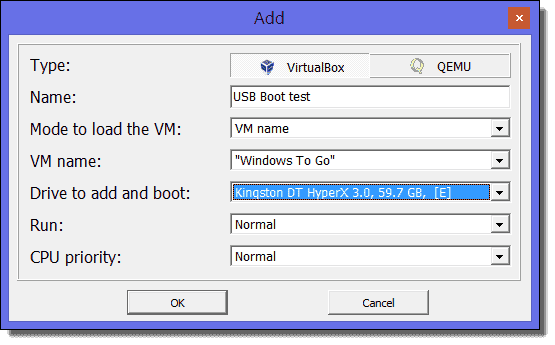 VirtualBox: Boot from USB with write access – 4sysops