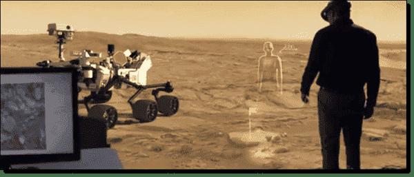 Microsoft HoloLens for  Mars explorers