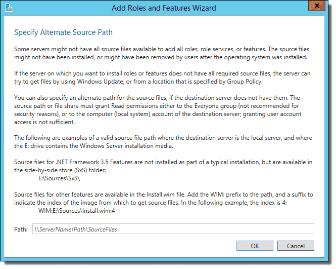 Installing  NET Framework 3 5 failed on Windows Server – 4sysops