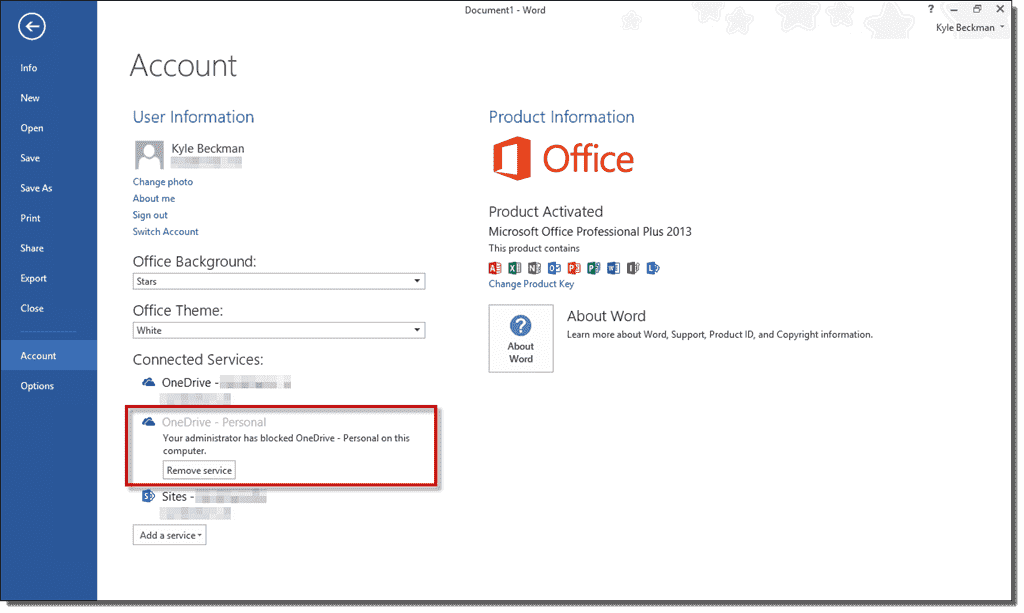 how to disable ms office 2013 upload center