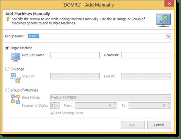 Adding machines manually