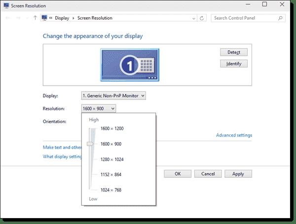 Custom display resolution added