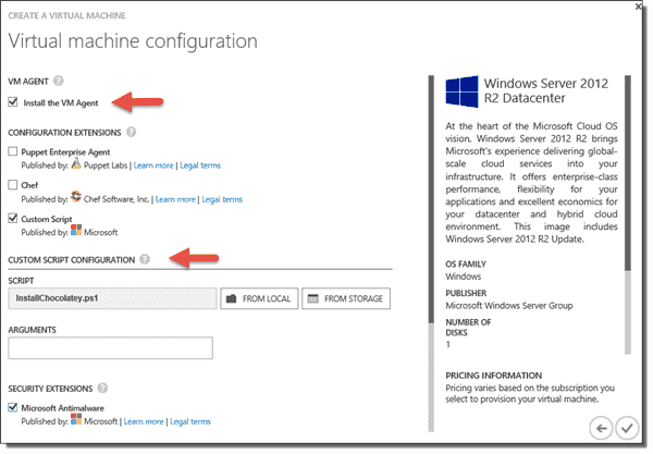 Enabling the Azure VM Agent with a Custom Script