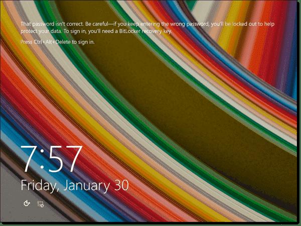 Machine account lockout threshold warning in Windows 8.1