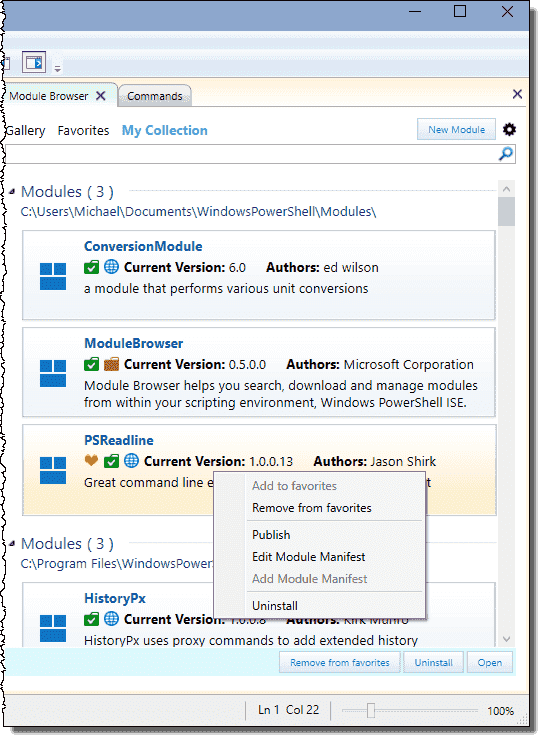 NEW: PowerShell ISE Module Browser – 4sysops