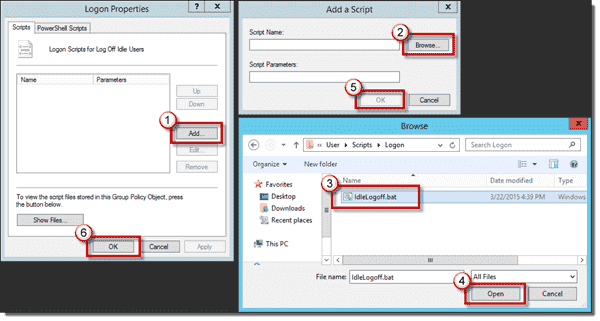 Adding the Logon script to the Group Policy Object