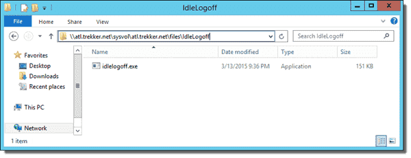 IdleLogoff executable in the Sysvol folder