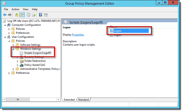 Logon and Logoff Scripts in the Group Policy Management Editor