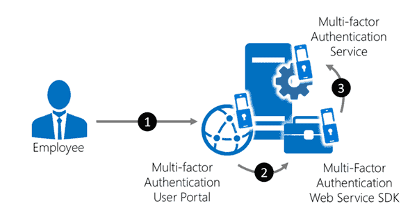 Traffic flow with the User and Mobile Portal
