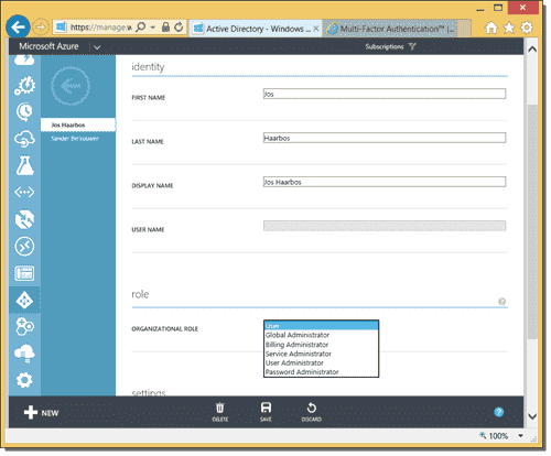 Assigning an organizational role in Azure