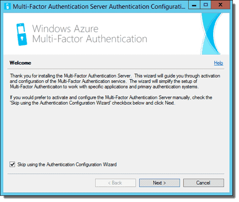 Azure Multi-Factor Authentication Server Configuration Wizard 01