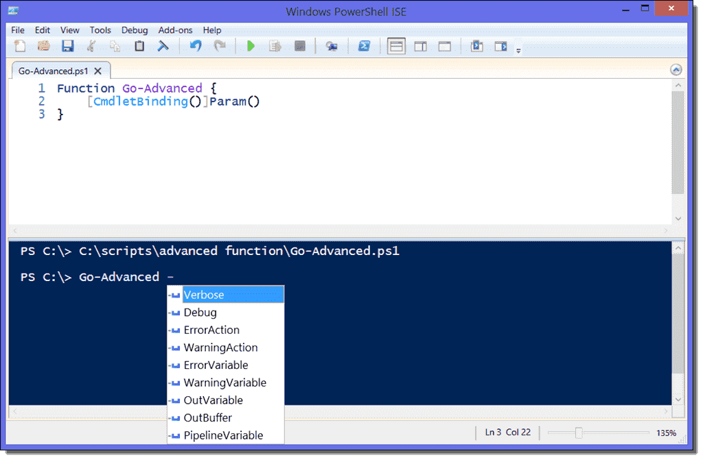 PowerShell advanced functions – The CmdletBinding and Parameter