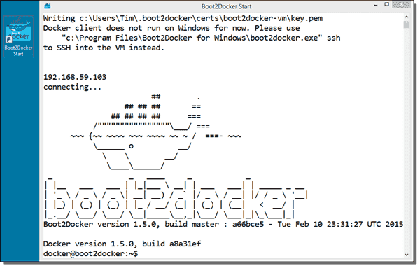 Docker for Windows gives us a pretty icon