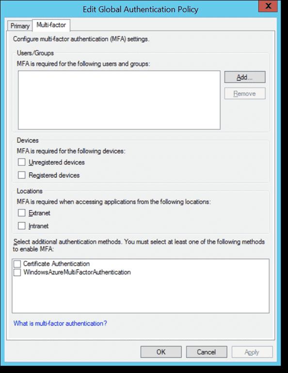 Azure Multi-Factor Authentication – Part 7: Securing AD FS