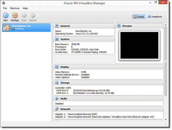 In Windows, the Docker engine runs in an honest-to-goodness Linux virtual machine inside Oracle VirtualBox.