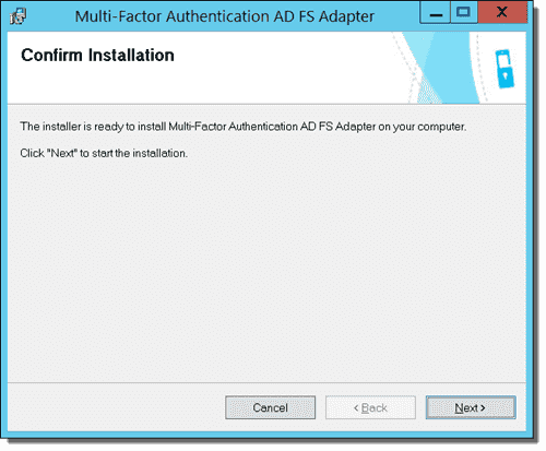 The Confirm Installation window