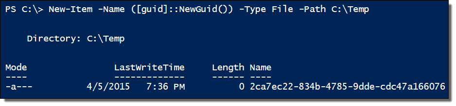 Random numbers, temporary file names, and GUIDs in PowerShell – 4sysops