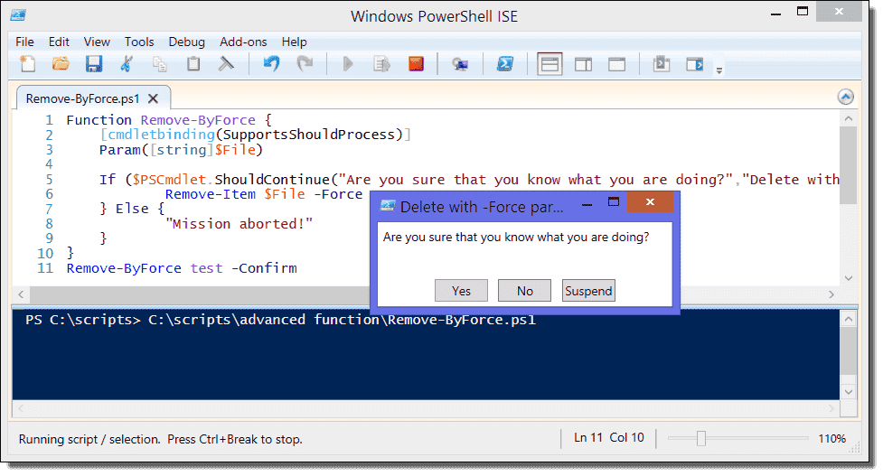 PowerShell advanced functions – The CmdletBinding and