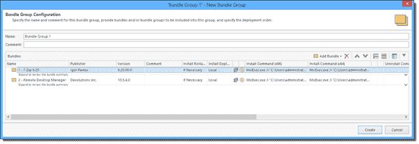 Creating a bundle group