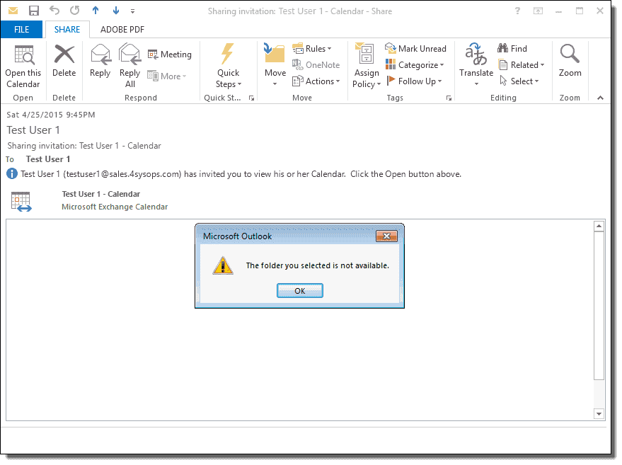 Missing shared mailboxes and calendars in Office 365: The