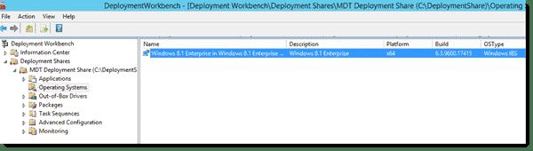 Windows 8.1 Enterprise imported into MDT