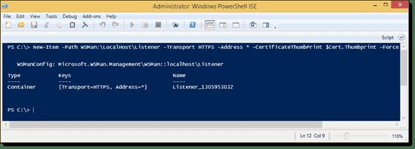 Adding a WSMan HTTPS listener