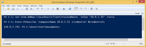 Adding an IP address to the trusted hosts with PowerShell