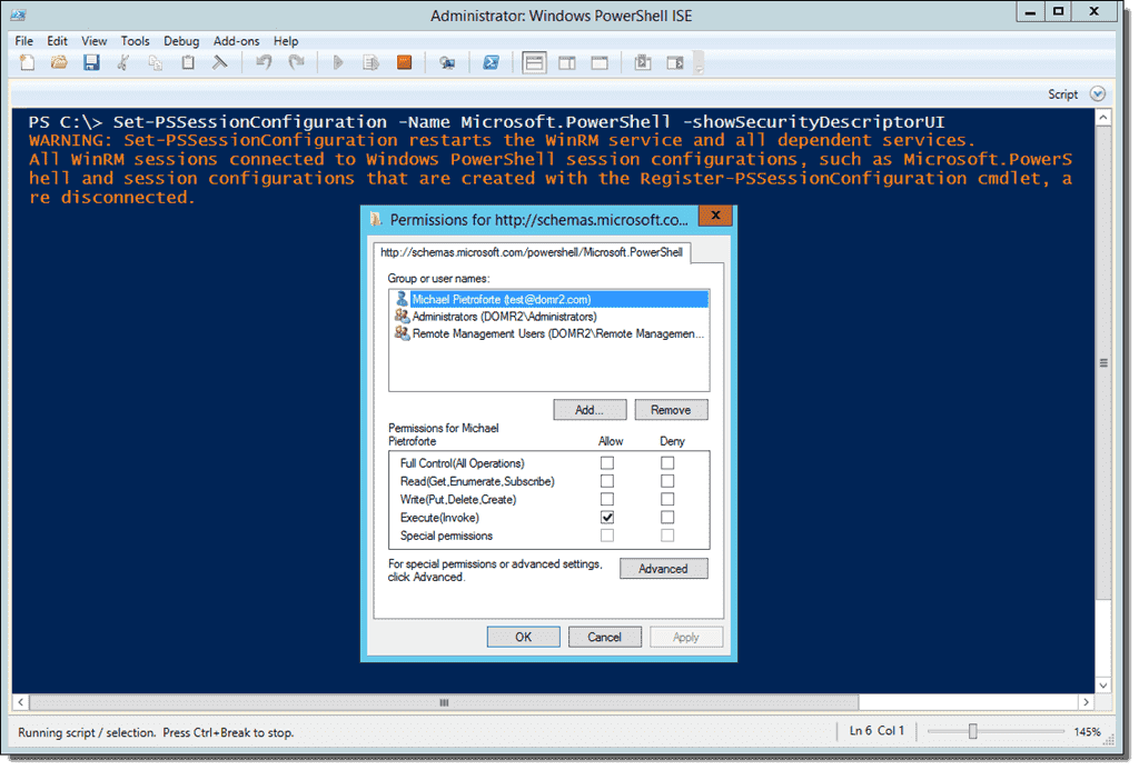 PowerShell Remoting without administrator rights – 4sysops