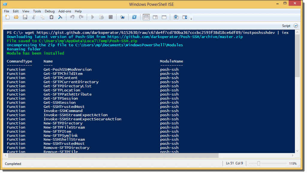 Use PowerShell to download through SFTP and SCP – 4sysops