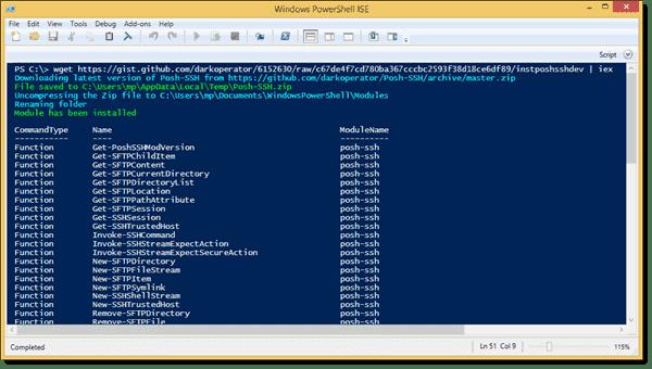 Installing Posh-SSH