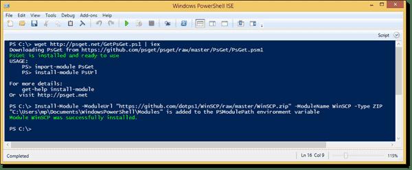 Installing the WinSCP PowerShell module