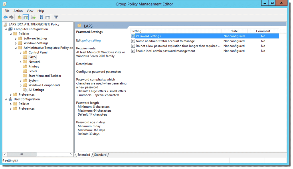 Set up clients for Microsoft LAPS (Local Administrator Password ...