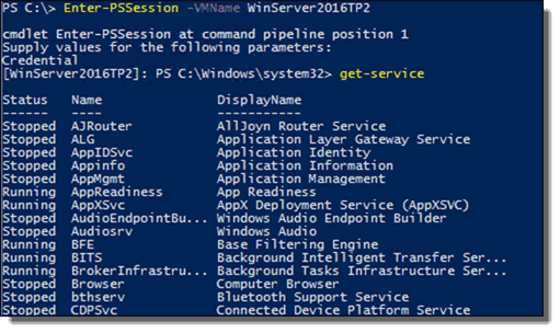 PowerShell Direct Remote Command