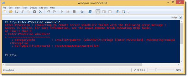 PowerShell Remoting - Access is denied for a standard user
