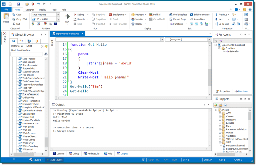 A robust PowerShell IDE – PowerShell Studio 2015 – 4sysops