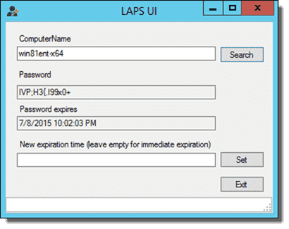 The LAPS UI app